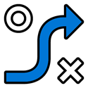 blue-black-strategy-map-icon