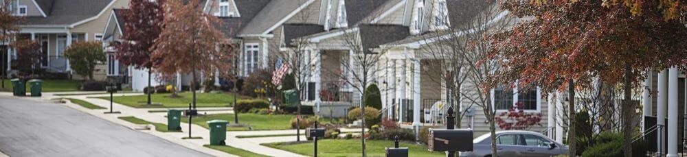 street-of-suburban-homes